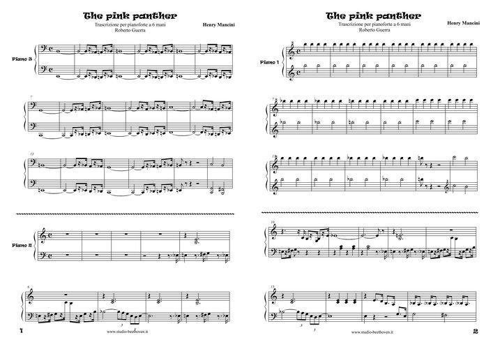 a 4 mani per pianoforte